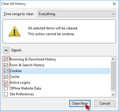 Clear History for Firefox