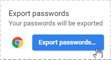 Export password from Chrome