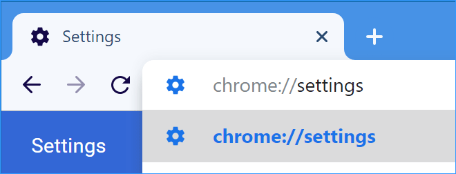 Open Chrome settings page