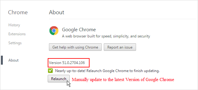 View which version of Chrome you are using