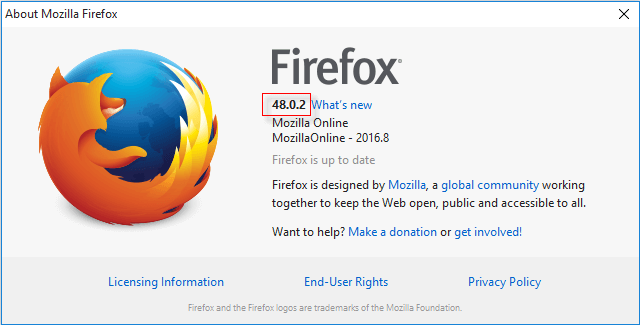 Check which version of Firefox you are using