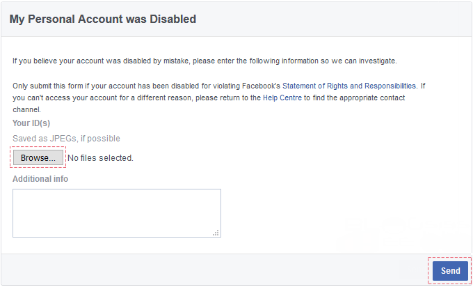 Appeal my Facebook disabled account