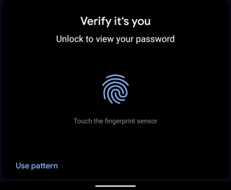Unlock to view your password
