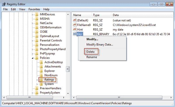 How to Remove Content Advisor Password in Internet Explorer