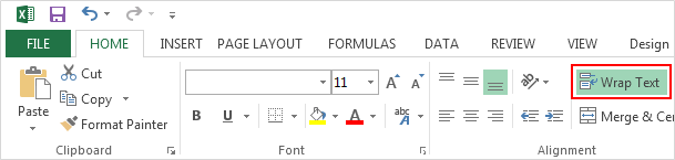 Wrap text automatically