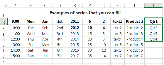 Type a value for series