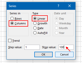 Fill in a large number of cells