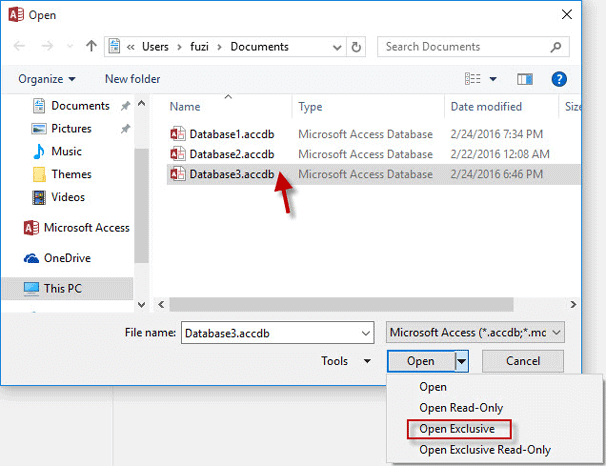 How to Bypass MDB/ACCDB File Password in Access 2010 - 2016