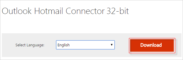 download outlook hotmail connector