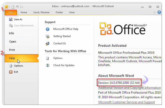 Fix cannot sync my email with outlook client - You cannot install the 32 bit version of office 2010 ...