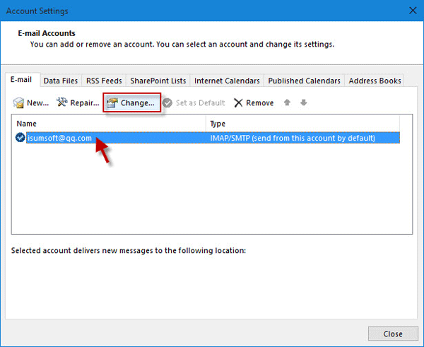 how to know outlook password