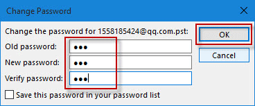 change pst password