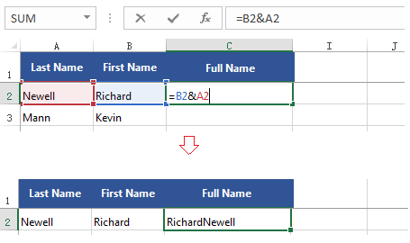 Combine text from multiple cells into one