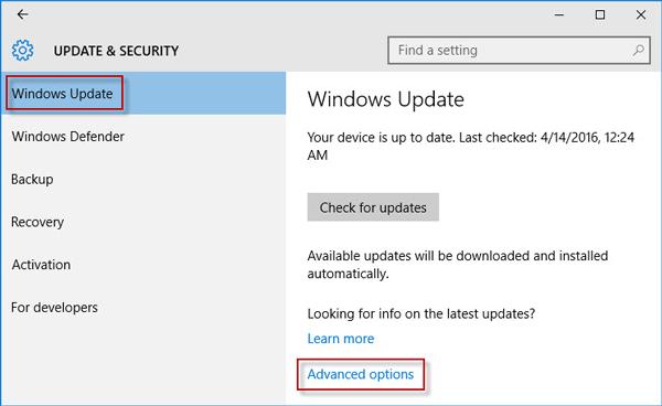 server 2016 how to stop auto updates