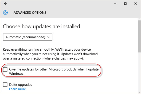 windows 7 get updates for other microsoft products not working