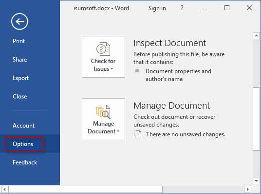 Enable/Disable Protected View in Office 2016 Word/Excel