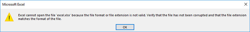 excel cannot open the file error