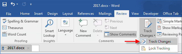 How to Hide Comments in a Word Document with Track Changes