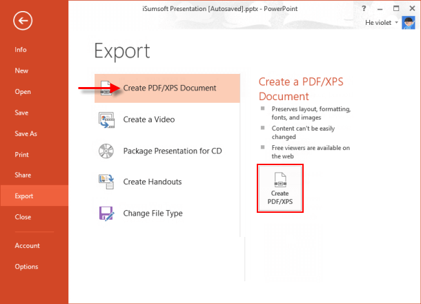 Create PDF document