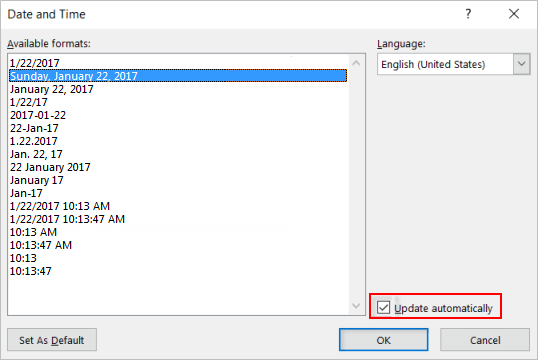 4 Ways to Insert Date and Time into Word 2010-2019