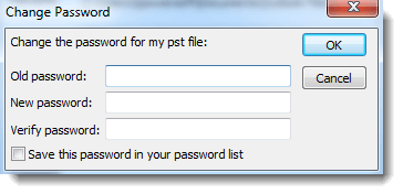 Remove password from Outlook .pst file