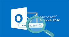 retrieve email password from Outlook 2016