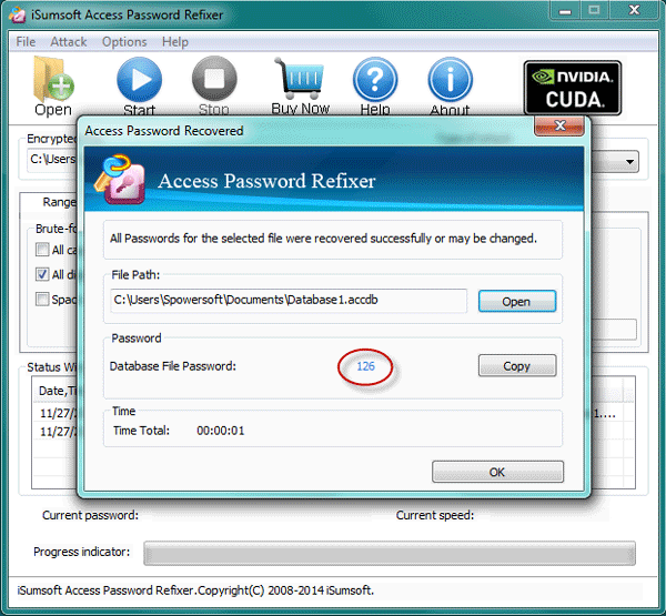 Access Password Recovered