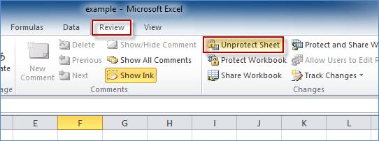 how to break password in excel sheet