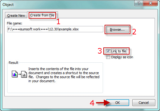 How to Insert Excel Spreadsheet into Word Document 2010/2013