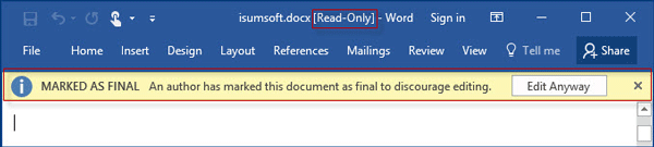 how to change document from read only