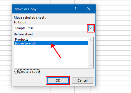Merge workbook using Move or Copy