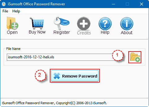 Remove Office password