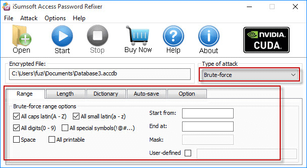 configure attack settings