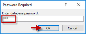 enter database password