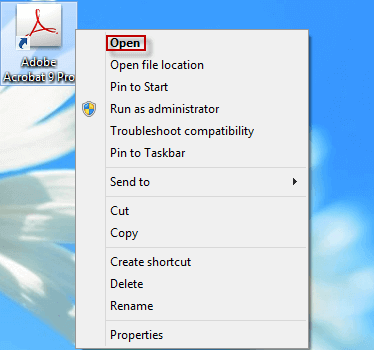 launch adobe acrobat