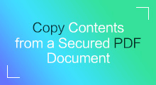 copy protected contents of pdf file