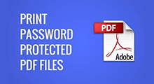 print encrypted pdf files