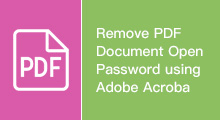 remove pdf document open password
