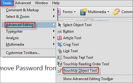 touchup object tool