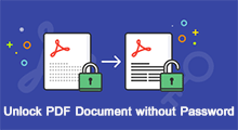 Unlock PDF document without password