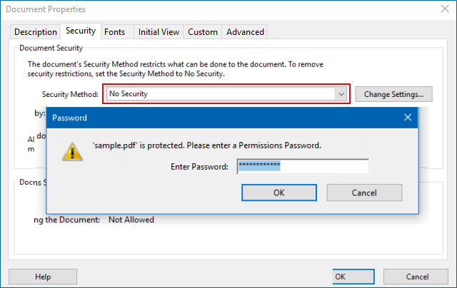 New Method to Add or Remove Password Security from PDFS in