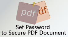 Set password to secure pdf document