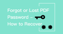 recover forgotten or lost pdf password