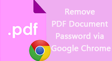 remove pdf document password via google chrome