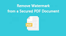 remove watermark from secured pdf document