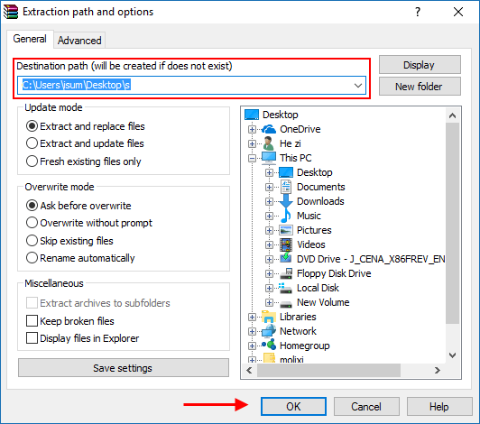 More Options to Unpack RAR Archive File on Windows 10