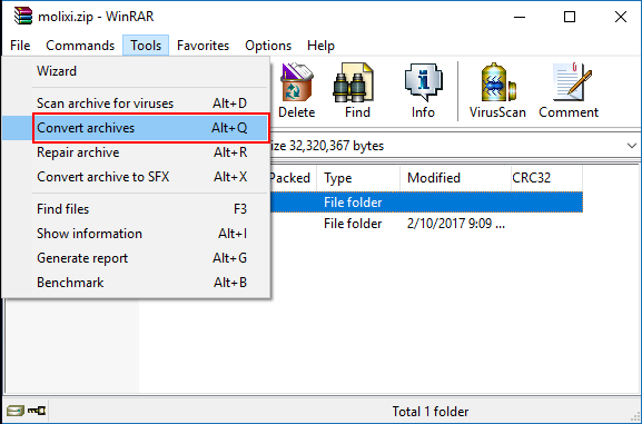 how to download rar files on windows 10