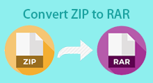 convert zip to rar