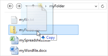 Add a file to the zip archive