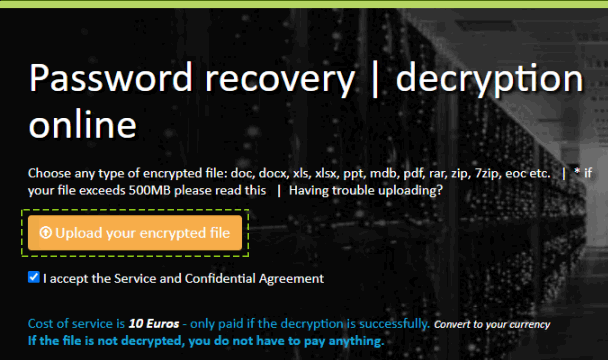 Upload your encrypted file
